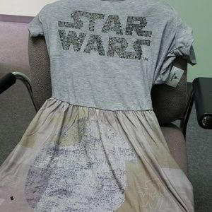 Studded star wars dress with open back